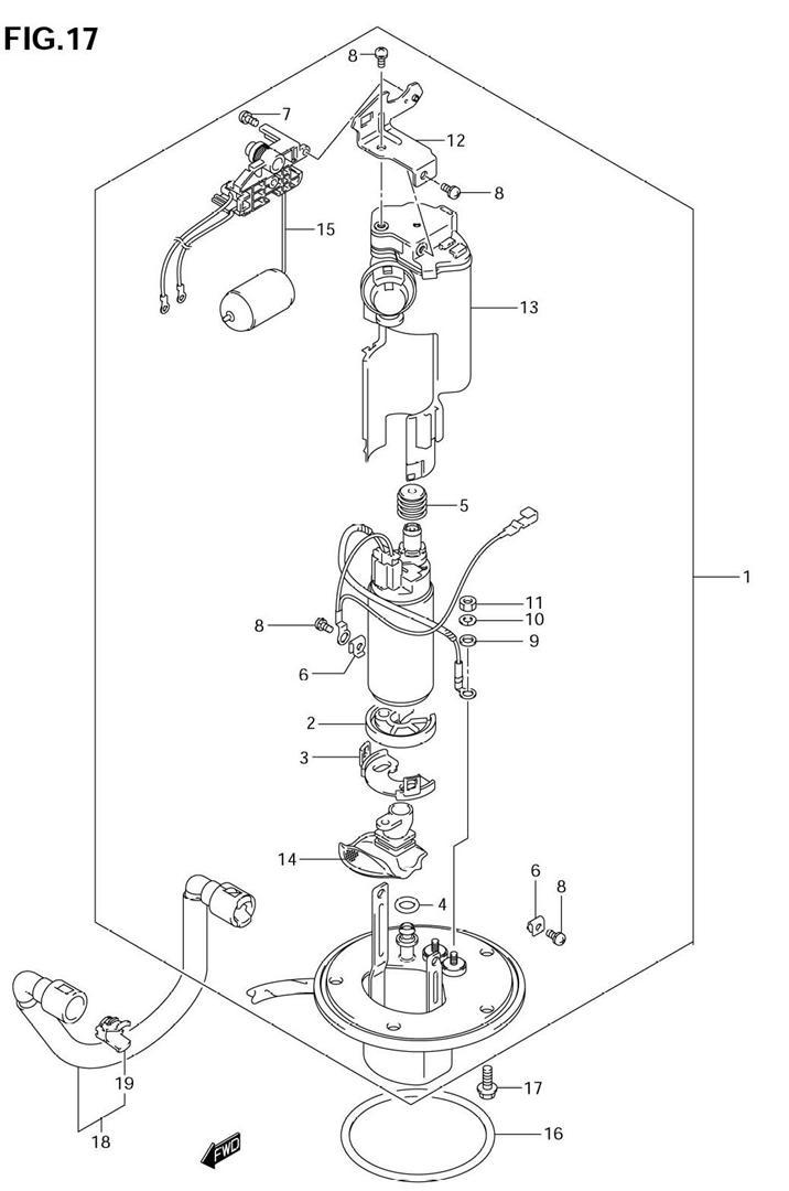 fuel pump gsxr750 2006 07 rh oneidasuzuki com 1994 Gsxr 750 Suzuki LT 80 Wiring Diagram