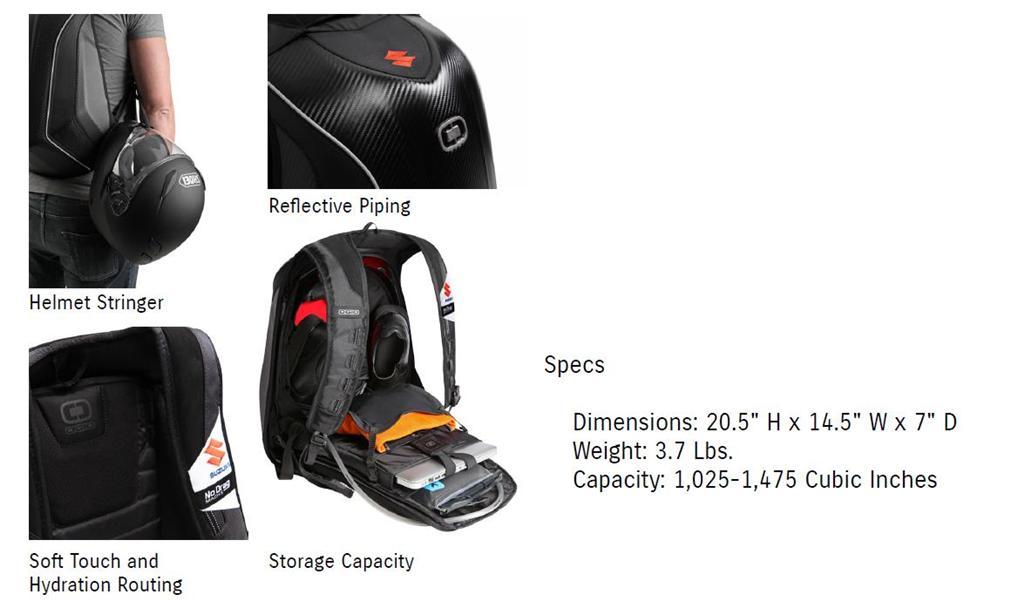 Ogio Mach 5 >> Suzuki No Drag Mach 5 Backpack Ogio