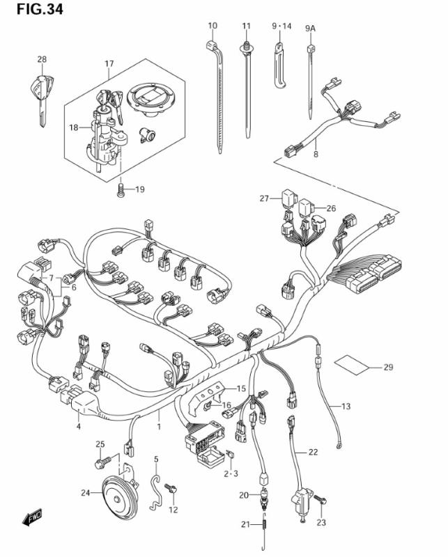 WIRING HARNESS GSXR1000... | 2005 Gsxr 1000 Wiring Diagram |  | Oneida Suzuki